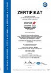 Zertifikat Zertifikat für Qualitätsmanagement (DIN ISO 9001)